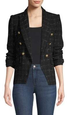 Generation Love Alexa Tweed Double-Breasted Blazer