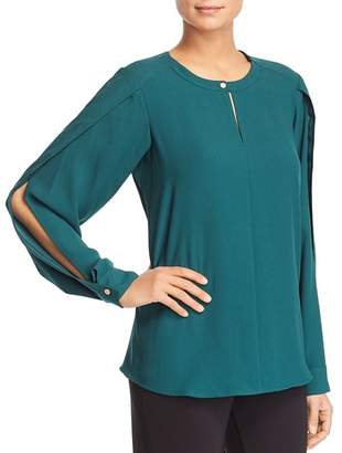 Donna Karan Slit-Sleeve Blouse