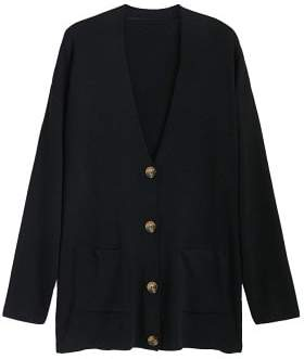 MANGO Buttoned ribbed cardigan