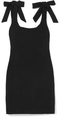 Rebecca Vallance Dahlia Bow-embellished Crepe Mini Dress - Black