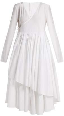 MERLETTE Andaman asymmetric wrap dress