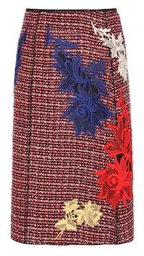 Marc Jacobs Embellished tweed skirt