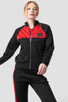 Calvin Klein Color Black Track Jacket Black/Racing Red