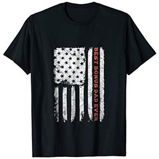 USA Flag Best Bonus Dad Ever Shirt 4th of July Gift for Men