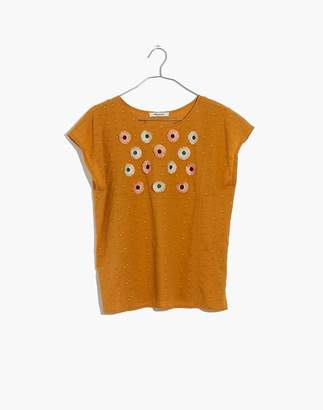 Madewell Embroidered Sunflower Top
