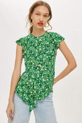 Topshop Field Floral Print Blouse