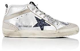 Golden Goose Women's Mid Star Metallic Leather Sneakers - Silver