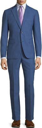 Neiman Marcus Modern-Fit Two-Piece Suit, Blue