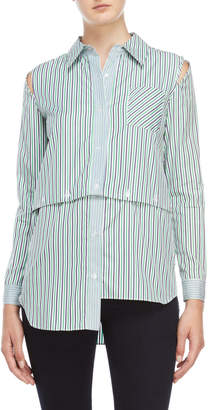 Milly Fractured Striped Shirt