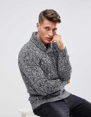 Esprit Shawl Collar Sweater In Twisted Yarn