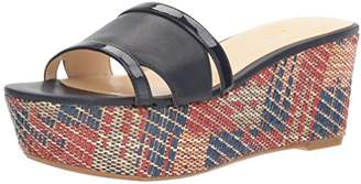 Nine West Women's Feather Patent Wedge Sandal