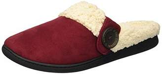 Dearfoams Women's Microsuede Clog with Button Tab Slipper