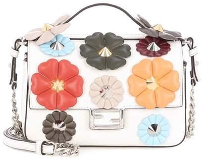 Fendi Double Micro Baguette leather embellished shoulder bag