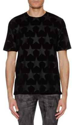 Just Cavalli Men's Tonal-Stars Crewneck Short-Sleeve Cotton T-Shirt