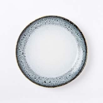 west elm Reactive Glaze Salad Plates (Set of 4) - Black/White