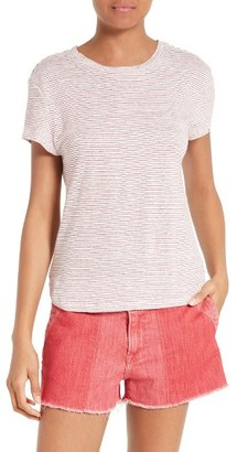 Women's Frame Stripe Linen Tee $119 thestylecure.com