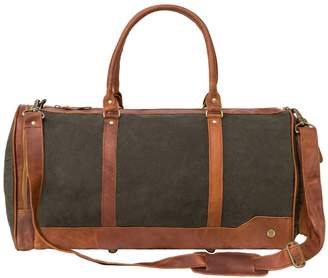 MAHI Leather - Canvas & Leather Columbus Holdall In Forest Green
