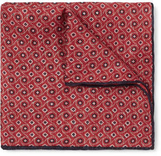 Brunello Cucinelli Printed Linen and Cotton-Blend Pocket-Square