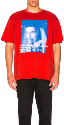 Off-White Off White Bernini Tee in Red & Blue | FWRD