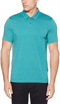 Perry Ellis Men's Micro Print Pima Cotton Polo Shirt