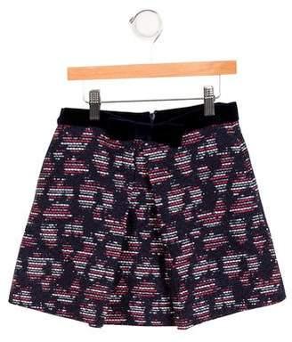 Oscar de la Renta Girls' Bow-Embellished Tweed Skirt w/ Tags