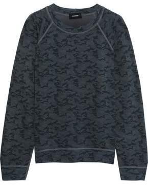 Monrow Printed Fleece Sweatshirt
