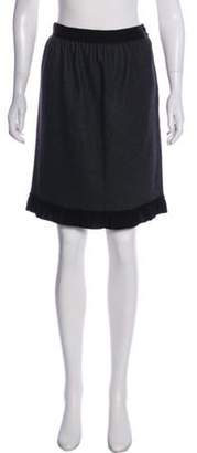 Lanvin Knee-Length Wool Skirt Grey Knee-Length Wool Skirt
