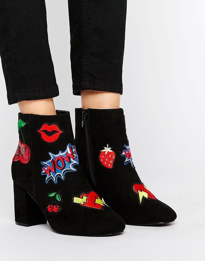 AsosASOS RISE & SHINE Patchwork Ankle Boots