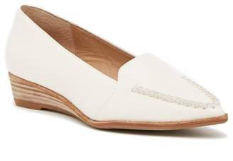 Bettye Muller Chet Pointed Toe Loafer Wedge