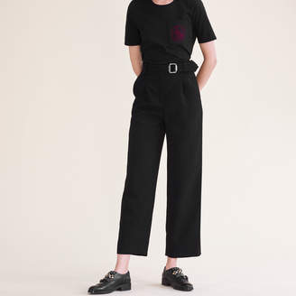 Maje Wide leg trousers with belt