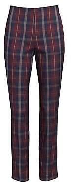 Rag & Bone Rag& Bone Rag& Bone Women's Simone Plaid Crop Skinny Pants