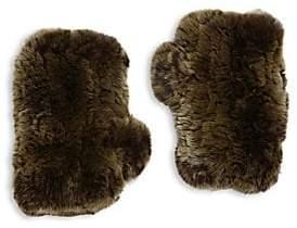 Surell Women's Rabbit Fur Texting Gloves