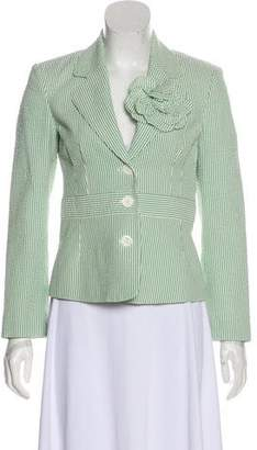 Michael Kors Striped Notch-Lapel Blazer