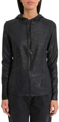 Giorgio Brato Stretch Leather Jacket With Hood