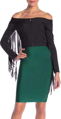 Wow Couture Fringe Bandage Top