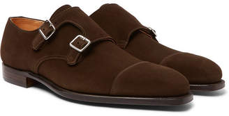 Thomas Laboratories George Cleverley Suede Monk-Strap Shoes