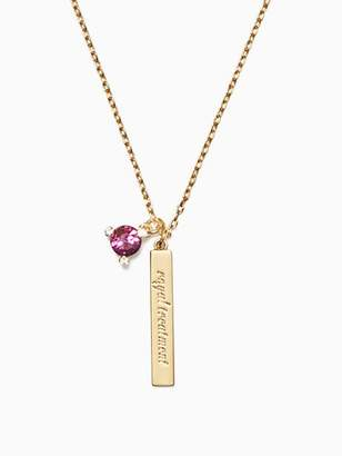 Kate Spade Born to be february pendant