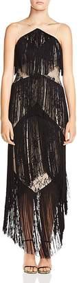 Haute Hippie Elixir of Life Tiered-Fringe Lace Dress