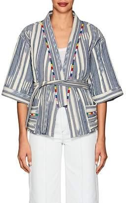 Warm Women's Weekend Folkloric-Print Cotton Kimono Jacket