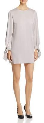 Paule Ka Tie-Cuff Satin Tunic Mini Dress