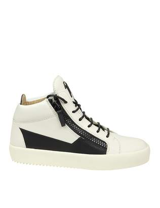 Giuseppe Zanotti Sneakers Leather Color Off White And Black