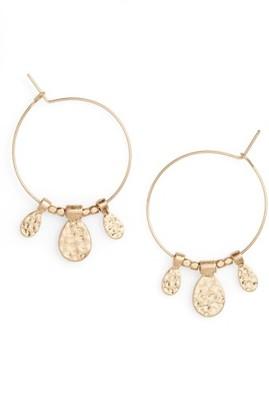 Women's Panacea Charm Hoop Earrings $20 thestylecure.com