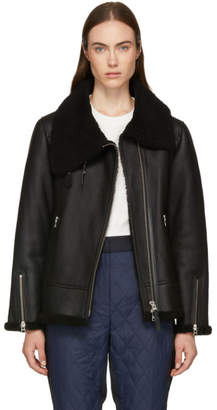 Mackage Black Minna Shearling Jacket