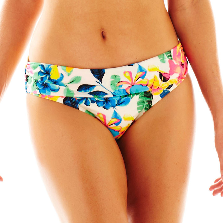 JCPenney OCEAN AVENUE Ocean Avenue Floral Print Sash Hipster Swim Bottoms