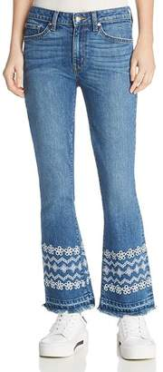 Derek Lam 10 Crosby Jane Mid Rise Flip Flare Jeans in Medium