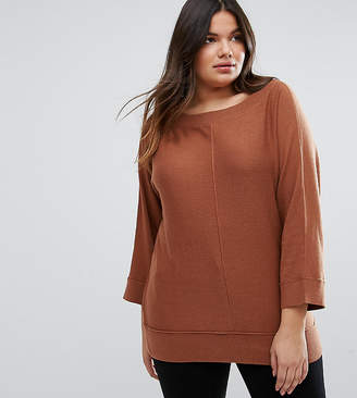 Elvi Plus Boat Neck Jumper