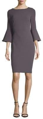 Calvin Klein Bell Sleeve Scuba Crepe Sheath Dress