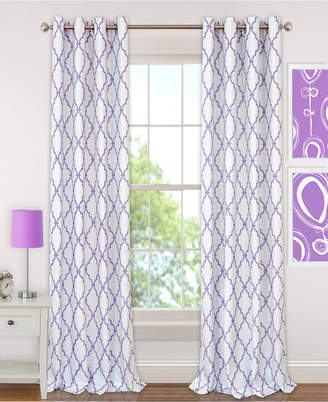 "Elrene Kids' Candice 52"" x 84"" Geo-Print Blackout Grommet Curtain Panel"