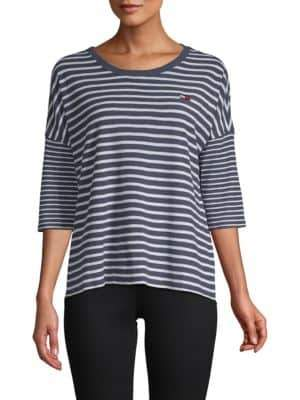 Tommy Hilfiger Quarter-Sleeve Striped Tee