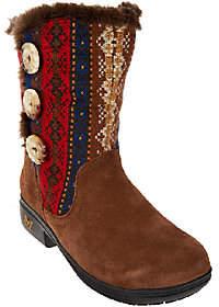 Alegria Suede & Knit Mid-calf Boots w/ Faux Fur- Nanook